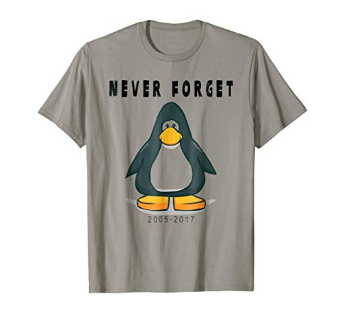 (Club Penguin T Shirt Never forget)