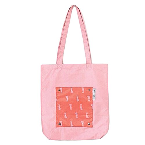 Leisial de Viaje la Compra de de Bolso Hombro 40 32CM de Mujer Grande de para Bolsa Bolsa Lona Portátil Algodón Chica de Rosa Bolso PZrPaxwv