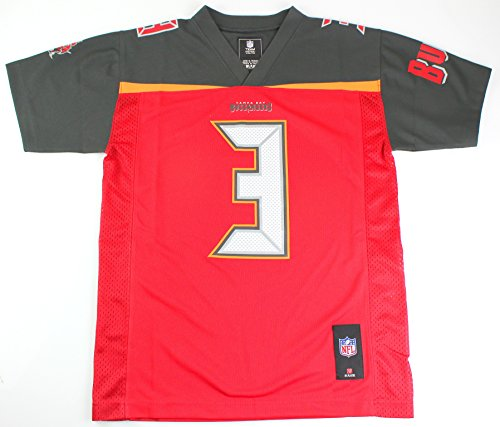 Jameis Winston Tampa Bay Buccaneers #3 NFL Youth Mid-Tier Jersey Red (Youth Small 8)