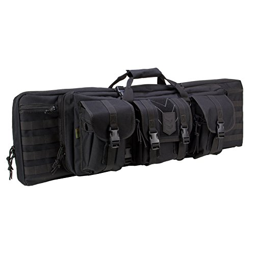 Ranger-Double-Rifle-Case-Padded-Long-Gun-Case-Rifle-Storage-Backpack-With-MOLLE-Pouches-Integrated-Pistol-Cases-and-Magazine-Storage