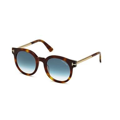 Amazon.com: Tom Ford anteojos de sol TF 435 Janina anteojos ...