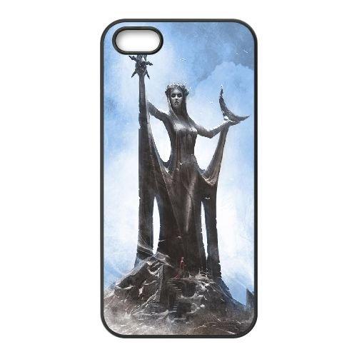 Azura The Elder Scrolls V Skyrim 3 coque iPhone 4 4S Housse téléphone Noir de couverture de cas coque EBDOBCKCO11363