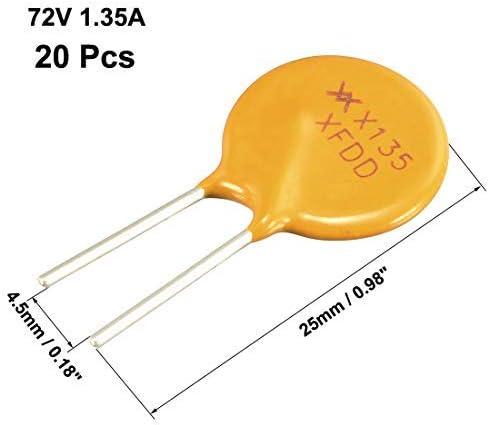 20 fusibili radiali 1,35 A PPTC Polyswitch 72 V