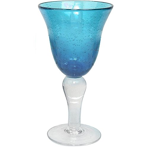 Glass Goblet, One Size, Turquoise - Artland 50505B