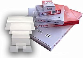 Caja De 100 Bolsas De Plastificar Yosan Din A4 125 Micras: Amazon ...