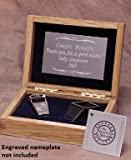 Silver Colored Brass Award Whistle with Safe-T-Tip in a Wooden Gift Box. Made in the USA!