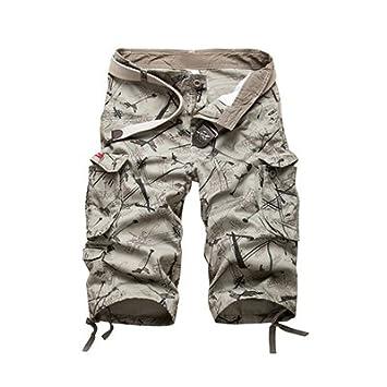 WDDGPZDK Short De Plage Cotton Mens Cargo Shorts Shorts Hommes Camouflage  Mode Décontracté en Plein 40e820e33de