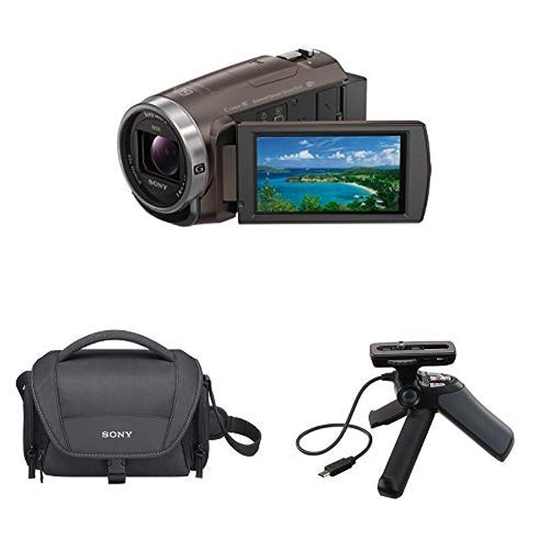 소니 SONY 비디오 카메라 Handycam 광학30배 내장 메모리64GB 브론즈 브라운HDR-CX680 +HAKUBA 4 단삼각 소형