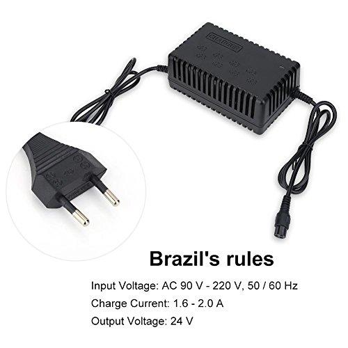 24V 1.6-2.0A Chargeur D'alimentation pour Vélo Électrique, Chargeur Intelligent pour Scooter Électrique avec Prise Aviation 110V-220V, Accessoires D'adaptateur de Véhicule Électrique