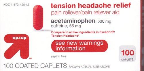 Plus et plus 100ct tension Maux de tête Soulagement Comparer Excedrin céphalée de tension