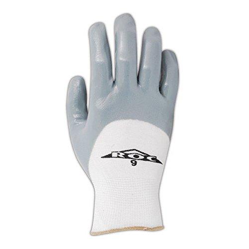 Magid Glove & Safety GP162-7 Magid ROC GP162 Nitrile 3/4 Coated Gloves, 8, White, 7 (Pack of 12) by Magid Glove & Safety (Image #2)
