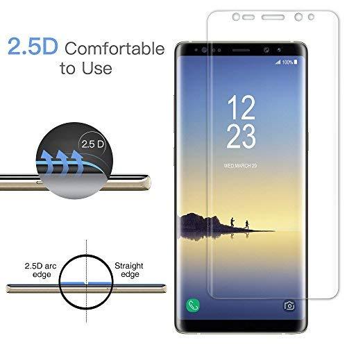 [2 Pezzi] Senistech Samsung Galaxy Note 8 Pellicola Protettiva -  0.33mm HD Alta Trasparente Samsung Galaxy Note 8 Pellicola ,Anti-Bubbles, Ultra Resistente, 3D Touch Compatible