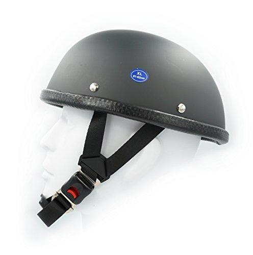 Hot Rides Classic Chopper Biker Motorcycle Helmet Novelty For Cruiser Harley Scooter ATV Turtle Flat Black (Medium)]()