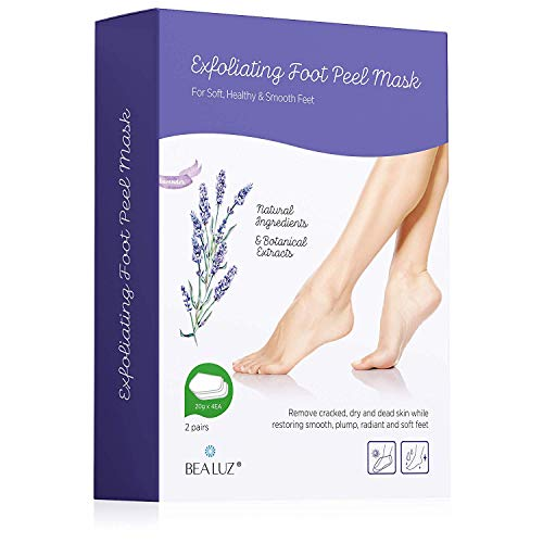 - 2 Pairs Foot Peel Mask Exfoliant for Soft Feet in 1-2 Weeks, Exfoliating Booties for Peeling Off Calluses & Dead Skin, For Men & Women Lavender by Bea Luz
