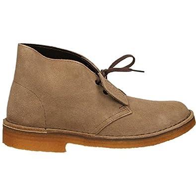 010752df4b Clarks Desert Boot, Damen Stiefelette Casual, Wolf Suede, beige - beige -  Größe