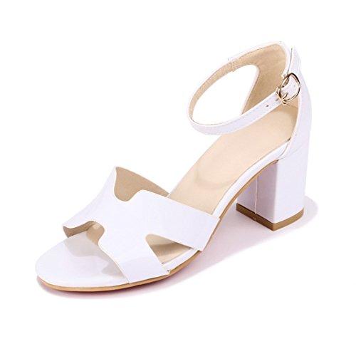 a sandali sandali sandali piedi signore trentotto sandali i dita i spillo alti e white i dei tacchi tacchi fibbie i fTqYSwB