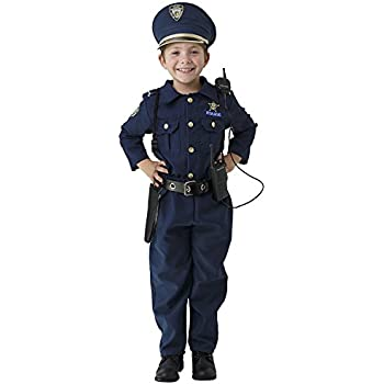Dress Up America Deluxe Police Dress Up Costume Set - Includes Shirt Pants Hat Belt Whistle Gun Holster and Walkie Talkie (Small)  sc 1 st  Amazon.com & Amazon.com: Young Heroes Child Police Officer Costume Small: Toys ...