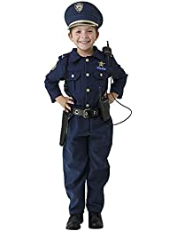 Deluxe Police Dress Up Costume Set - Includes Shirt, Pants, Hat, Belt, Whistle, Gun Holster and Walkie Talkie (Small)