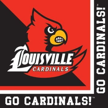 20-Count Paper Lunch Napkins, Louisville Cardinals (Louisville Cardinals Lunch)