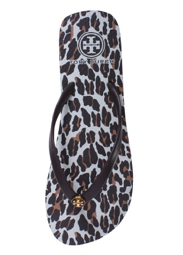 TB Thin Flip Flop Leopard Brown 5