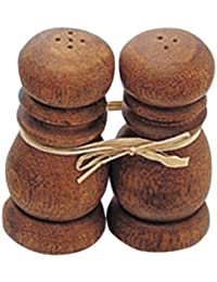 Access Pacific Merchants Acaciaware Salt and Pepper Set Tied with Raffia, 4-Inch cheapest