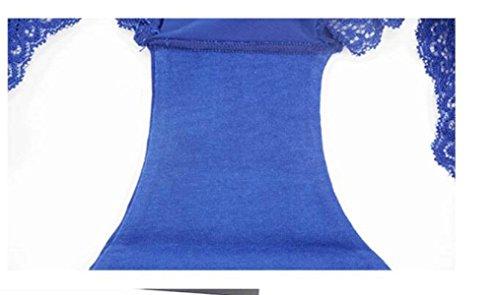 Mutandina Senza Blue In Seta Una Femminile Chlxi Ghiaccio Di Caricati Vita Cuciture Quattro 5qBwExnfH