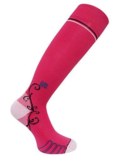 Vitalsox Italian Graduated Compression Socks for Women Best For Running, Travel, Yoga, Nurses, Maternity Pregnancy, Pink, Large