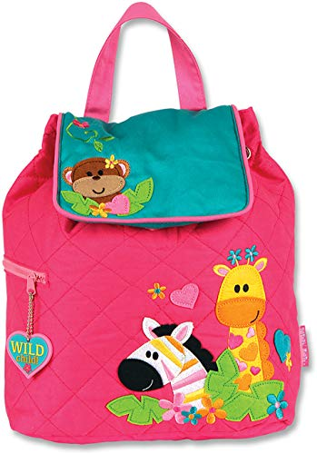 Stephen Joseph Quilted Backpack, Girl Zoo ()