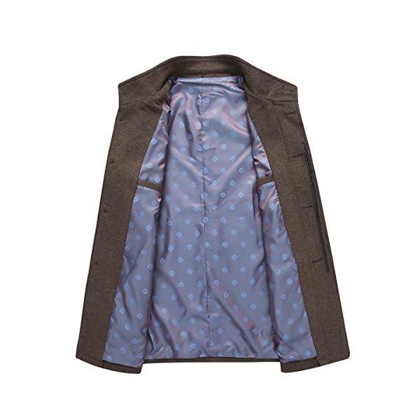 YOUTHUP Manteau Homme Hiver Chaud Demi Long Casual Veste Boutonnage Parka Epais Trench Coat