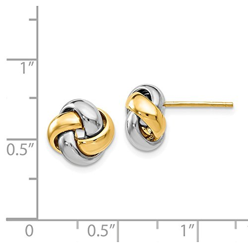 Leslie's 14k Two-tone Polished Love Knot Earrings by Jewels By Lux (Image #2)
