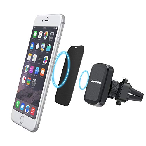 Car Vent Mount Holder, Getron Magnetic Air Vent Universal Cell Phone Cradle Stand for Smartphones Including iPhone Xs MAX XR X 8 SE Samsung Galaxy S9 Plus S8 S7 Edge Note 9 8 Google and More - Black