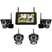 Uniden UDR780HD - 4 Camera Waterproof Wireless Security Camera System - Night Vision Up to 40 Ft.