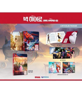 BIG HERO 6 (3D/2D Blu-ray Steelbook; NovaMedia Exclusive LENTICULAR; Only 600 Worldwide) (Blu Dvd Hero Big Ray Six)