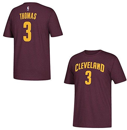adidas Isaiah Thomas Cleveland Cavaliers Maroon Name and Number T-shirt XX-Large (Player Tee Mens Nba Adidas)