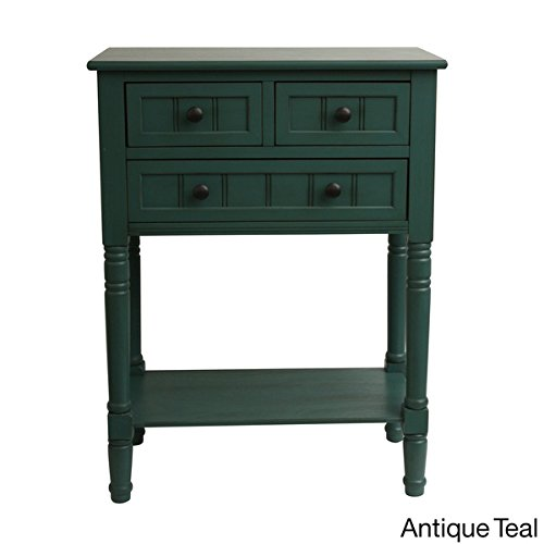 Cheap Simplify 3-drawer Classic Design 30″ Tall Console Table (antique teal)
