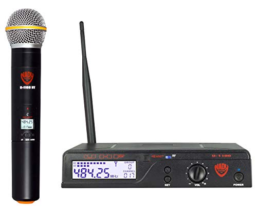 Nady U-1100 HT - 100 Channel UHF Handheld Wireless Microphone System Band B ()