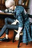 SIMONLIN BJD Doll Clothes Long Casual Plaid Shirt Suitable for Fashion Dolls (Green)