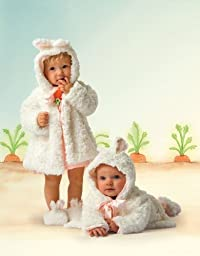 Bunnies by the Bay The Original Bunny Cuddle Coat, White, 6-12 Months