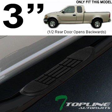 "3"" Tube Side Step Nerf Bars Rail Running Board F150 F250 Super/Ext Cab Blk"