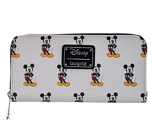 Loungefly-x-Retro-Grey-Classic-Mickey-All-Over-Zip-Wallet