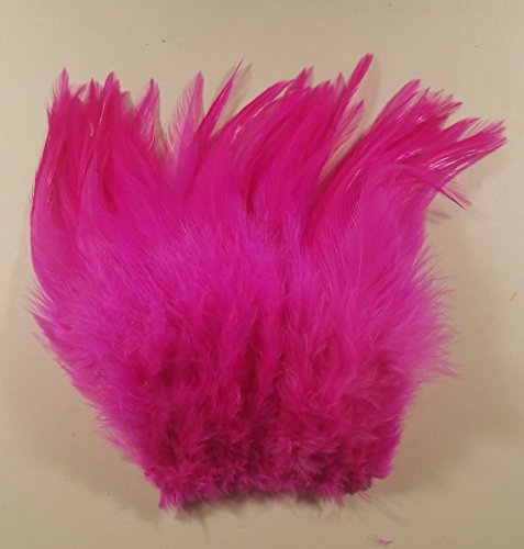 Winter's Hope Fly & River WHFR Strung Saddle Hackle Feathers (Fluo Cerise)