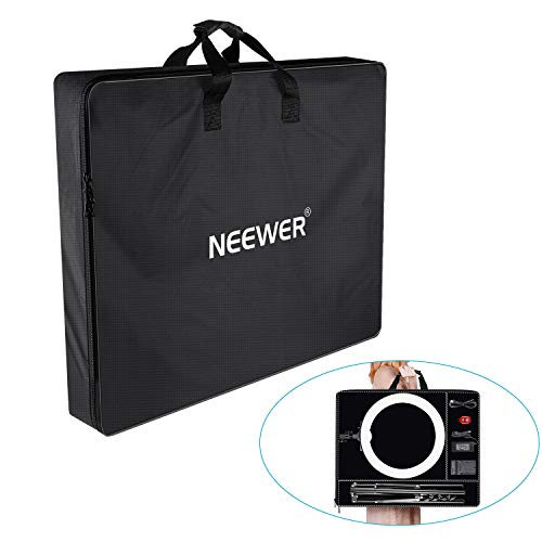 Neewer Enlarged Carrying Bag for 18 inches Ring Light, Light Stand, Accessories - 29.5x23.6 inches/75x60 Centimeters Protective Case, Durable Nylon,Light Weight (Black)