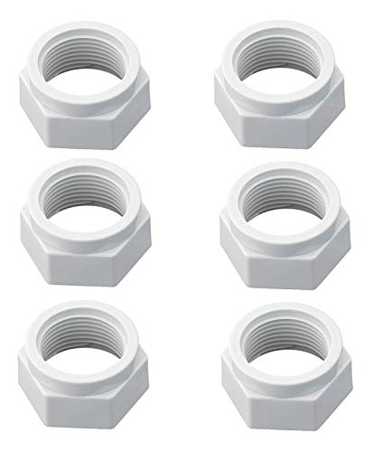 ATIE PoolSupplyTown Feed Hose Mender Nut Replacement for Pentair Pool Cleaner Feed Hose Mender Nut ED15 (6 Pack) - Feed Hose Nut