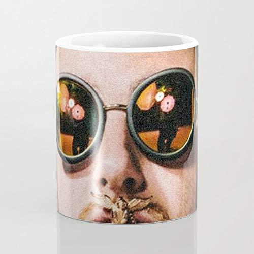 ZIQIZIYU Mac Miller con Gafas de Sol 325 ml Taza De Café ...