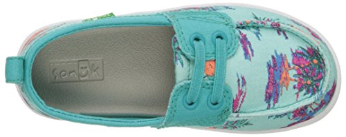 Sanuk Kids Sailaway Mate Boat Shoe (Little Kid/Big Kid) Turquoise/Pineapples