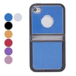 Solid Color Openable Bottom Cover Hard Case for iPhone 4/4S (Assorted Colors) , Blue