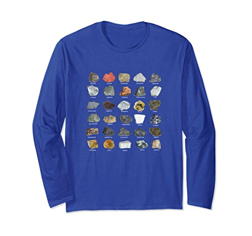 Unisex Ores and Minerals Gems and Crystals Rock Collecting T Shirt Medium Royal Blue ()