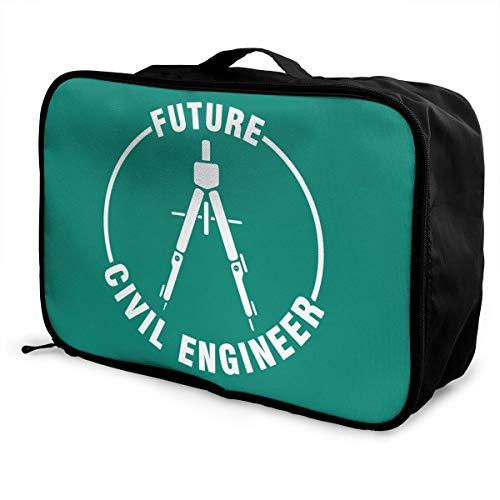 Future Engineer Lightweight Large Capacity Portable Luggage Bag Fashion Travel Duffel Bag
