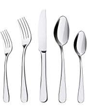 Silverware Set, 20 Pieces Flatware Cutlery Set ENLOY Stainless Steel Utensils Service for 4, Heavy Duty Gift and Dishwasher Safe, Mirror Polished Dinner Knife, Fork, Spoon for Restaurant