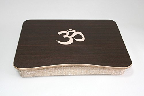 Breakfast Tray / iPad Table / Wooden Laptop Bed Tray / Pillow Tray / Serving Tray / Laptop Stand with ''Om'' / ''Hinduism'' Themed Inlay